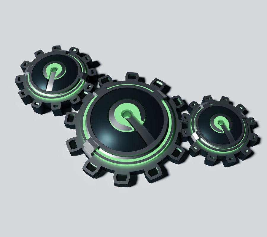 Gears royalty-free 3d model - Preview no. 1
