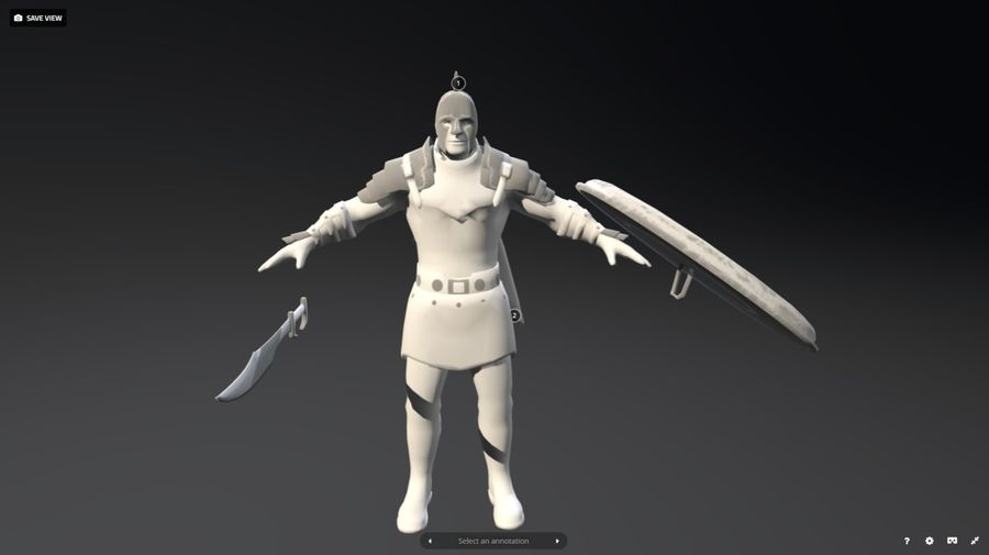 Rome Warrior royalty-free 3d model - Preview no. 4