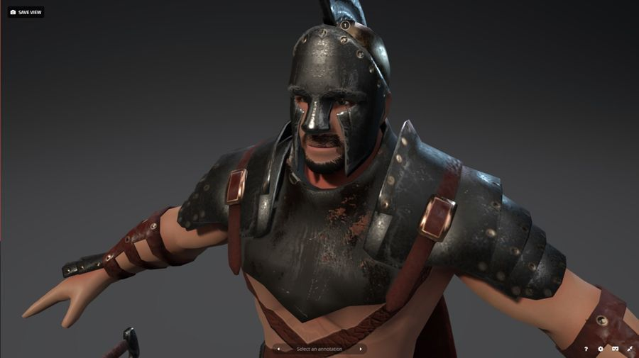 Rome Warrior royalty-free 3d model - Preview no. 1