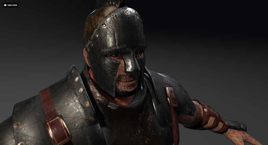 Rome Warrior royalty-free 3d model - Preview no. 2