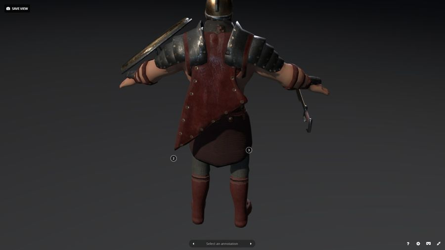 Rome Warrior royalty-free 3d model - Preview no. 5