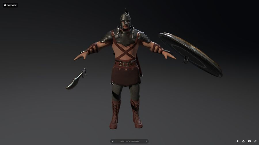 Rome Warrior royalty-free 3d model - Preview no. 6