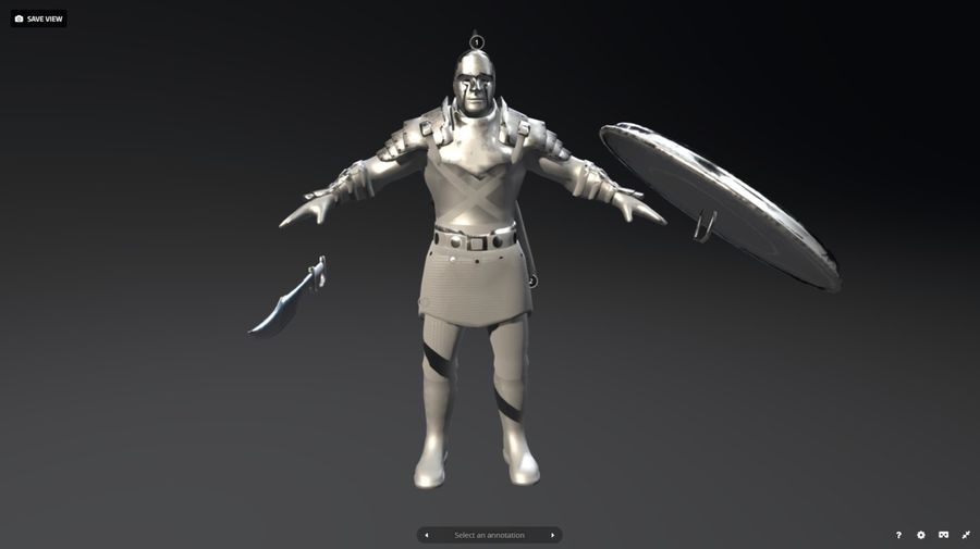 Rome Warrior royalty-free 3d model - Preview no. 3