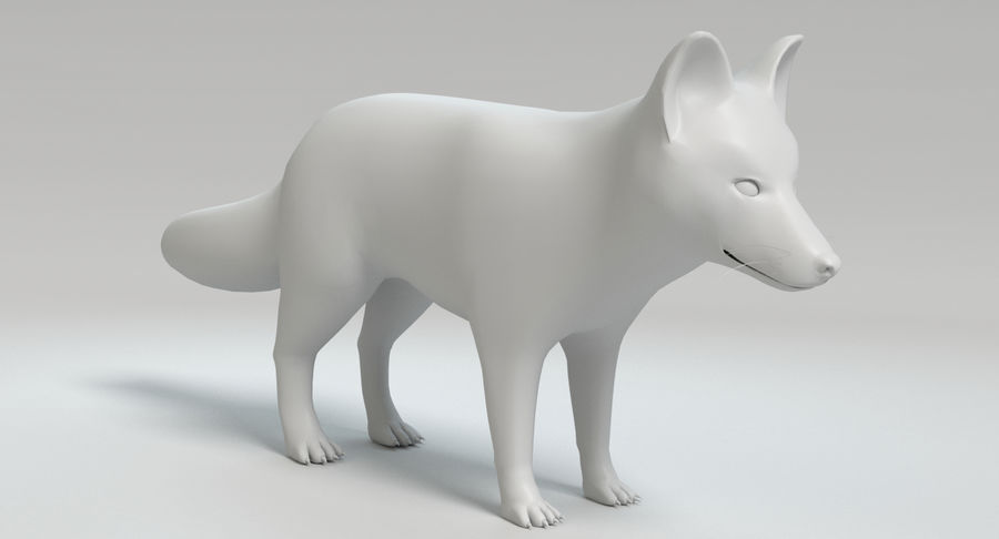 Fox royalty-free 3d model - Preview no. 11