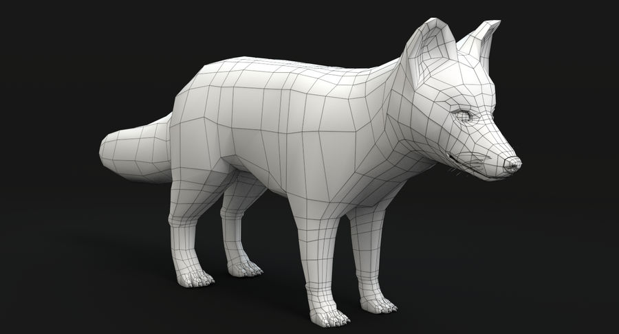 Fox royalty-free 3d model - Preview no. 12