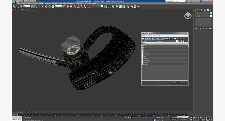 Bluetooth Headset Plantronics Voyager Legend 3D Model $19 -  unknown