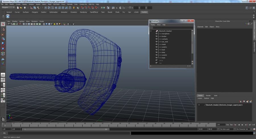 Bluetooth Headset Plantronics Voyager Legend 3D Model $19
