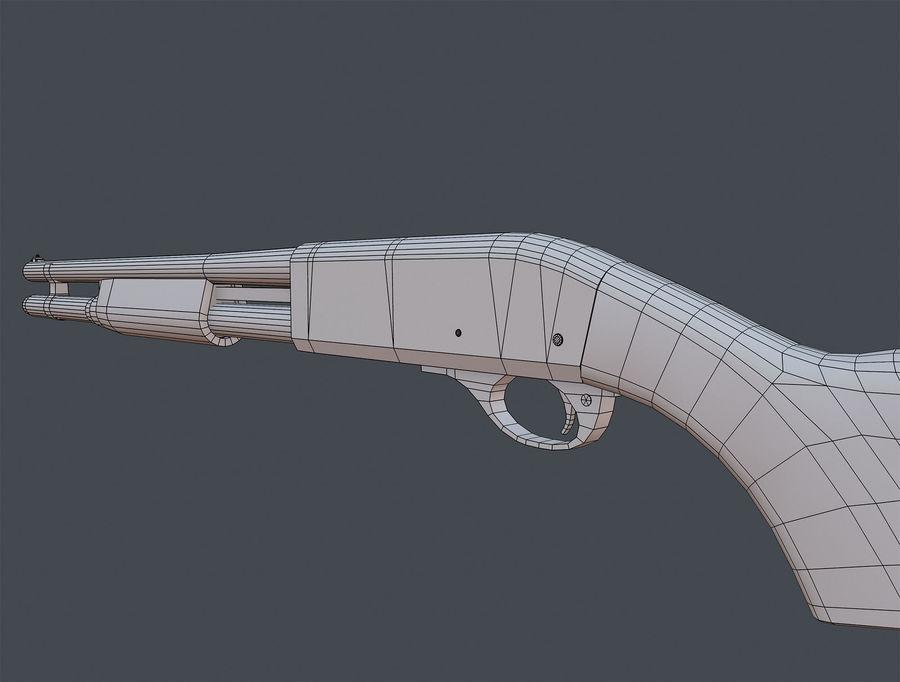 Shotgun Remington 870 lowpoly BPR royalty-free 3d model - Preview no. 11