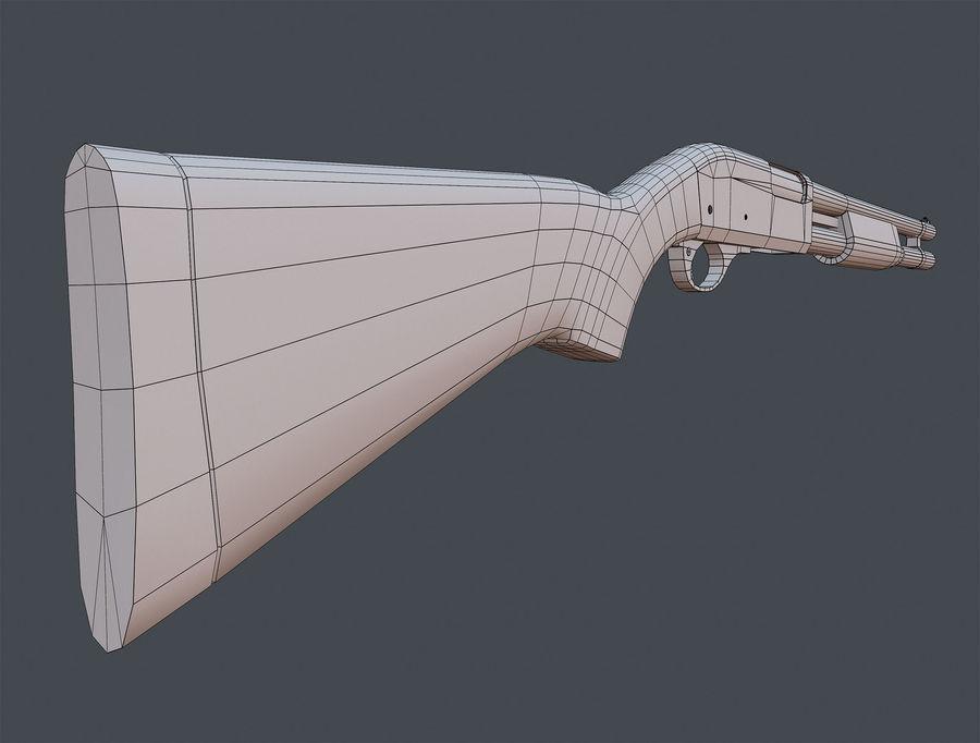 Shotgun Remington 870 lowpoly BPR royalty-free 3d model - Preview no. 9