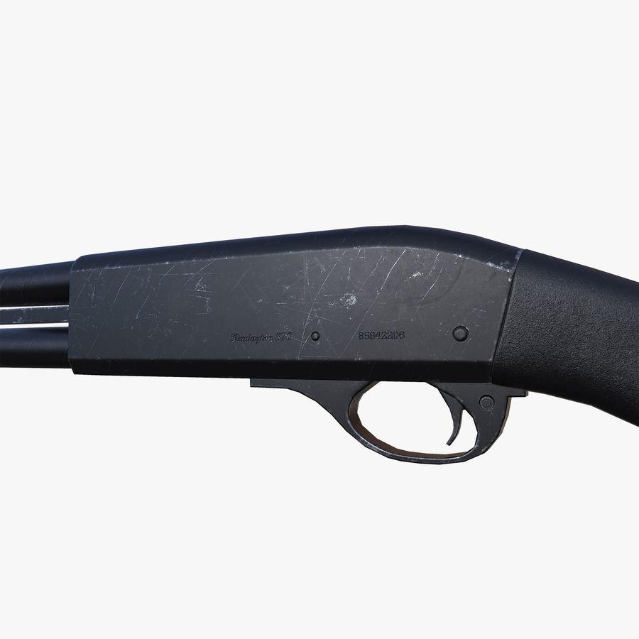 Shotgun Remington 870 lowpoly BPR royalty-free 3d model - Preview no. 4