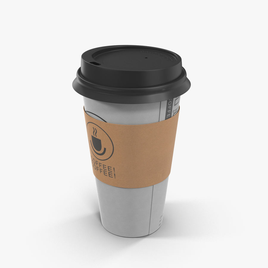 To-Go Coffee Cup 1 royalty-free 3d model - Preview no. 1