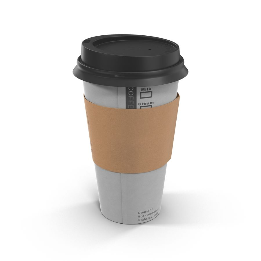 To-Go Coffee Cup 1 royalty-free 3d model - Preview no. 5