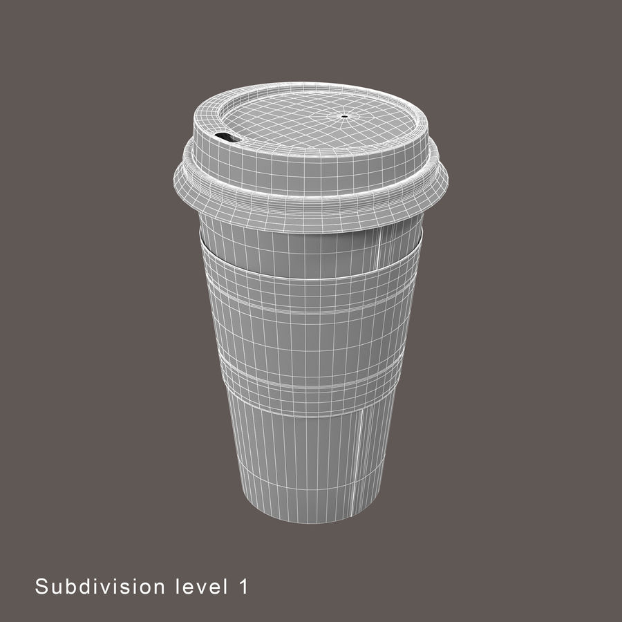 To-Go Coffee Cup 1 royalty-free 3d model - Preview no. 9
