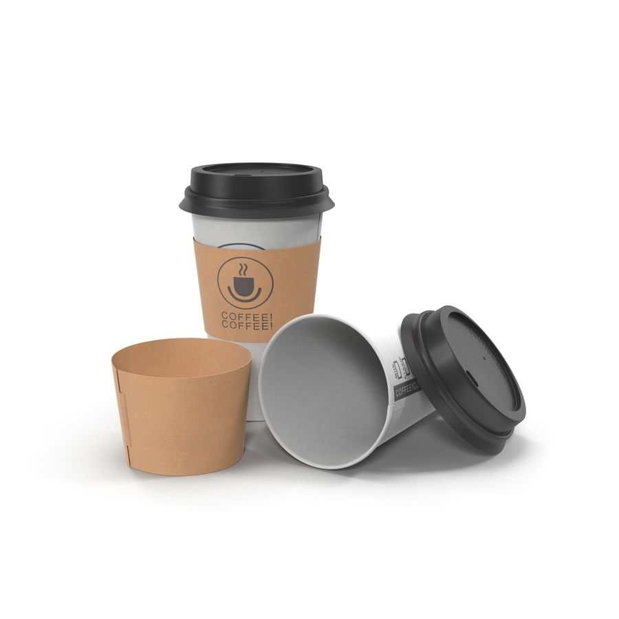 To-Go Coffee Cup 1 royalty-free 3d model - Preview no. 7