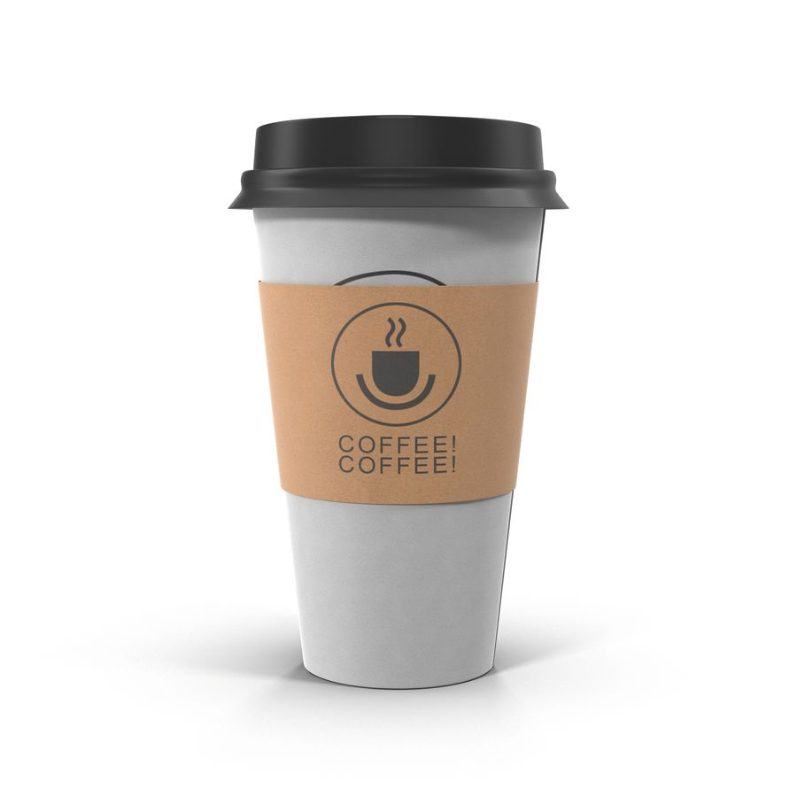 To-Go Coffee Cup 1 royalty-free 3d model - Preview no. 3
