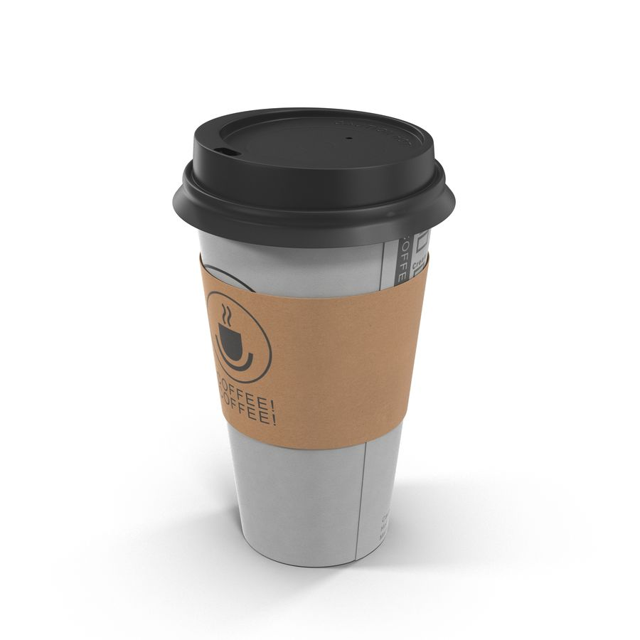 To-Go Coffee Cup 1 royalty-free 3d model - Preview no. 2