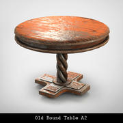 Old Round Table A2 3d model