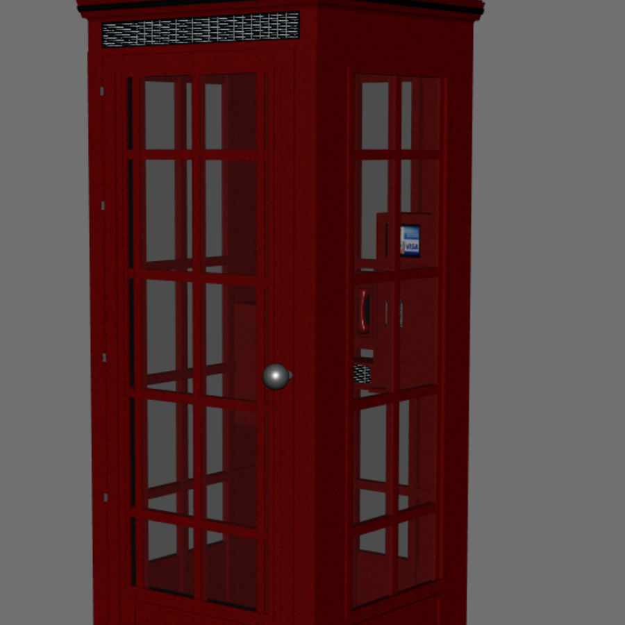 Telephone Booth royalty-free 3d model - Preview no. 2