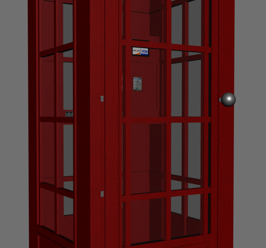Telephone Booth royalty-free 3d model - Preview no. 6