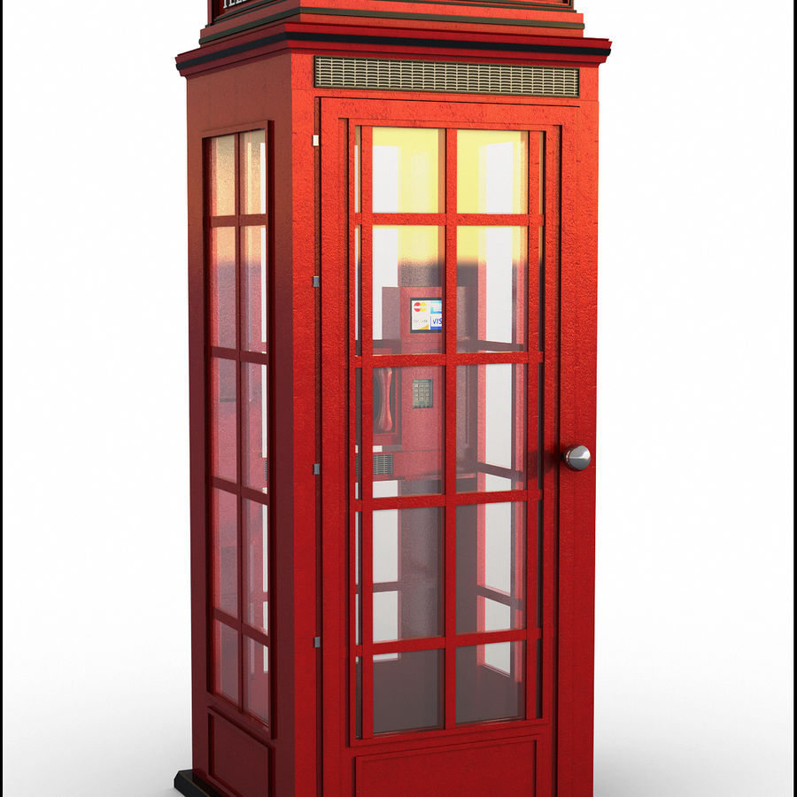 Telephone Booth royalty-free 3d model - Preview no. 1