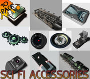 Sci Fi part accessories pack (10) 3d model