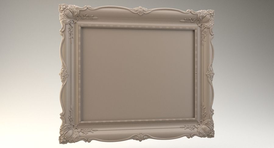 Painting Frame 2 royalty-free 3d model - Preview no. 14