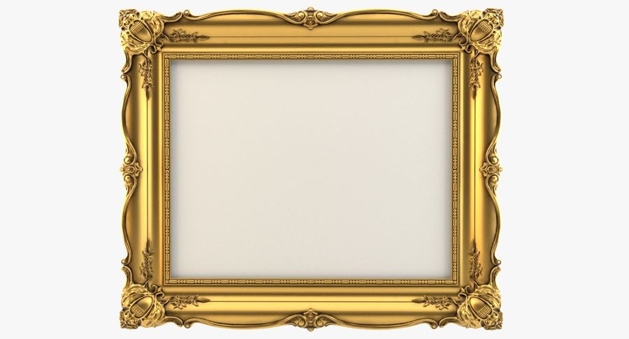 Painting Frame 2 royalty-free 3d model - Preview no. 2