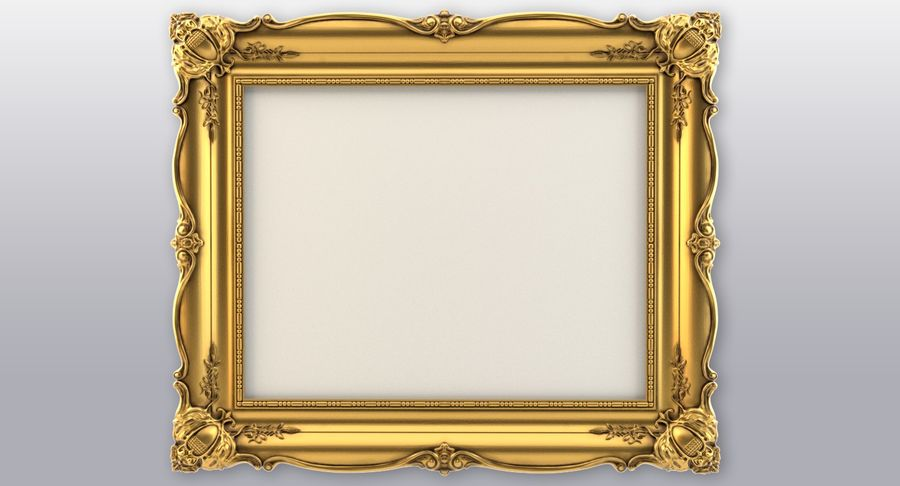 Painting Frame 2 royalty-free 3d model - Preview no. 3