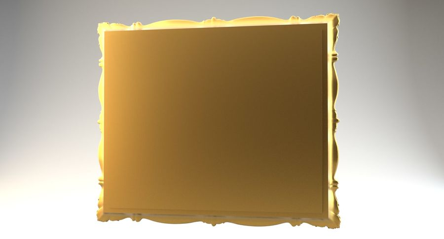 Painting Frame 2 royalty-free 3d model - Preview no. 7