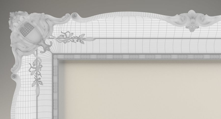 Painting Frame 2 royalty-free 3d model - Preview no. 12
