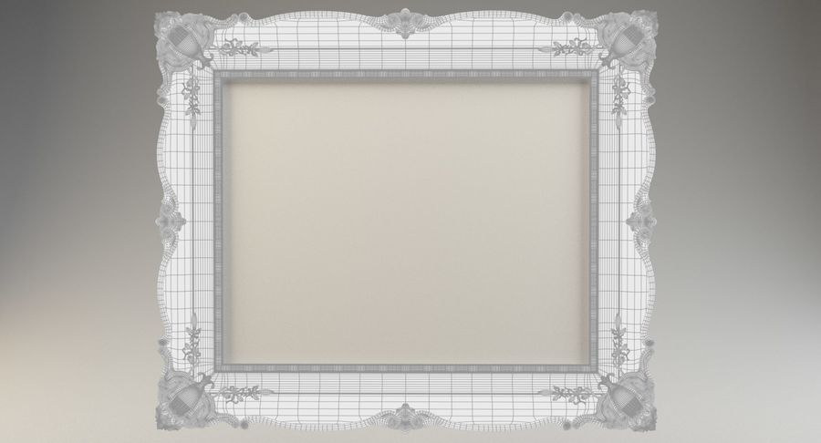Painting Frame 2 royalty-free 3d model - Preview no. 10