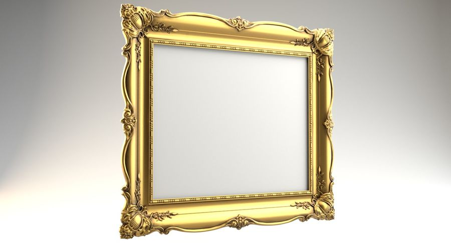 Painting Frame 2 royalty-free 3d model - Preview no. 4