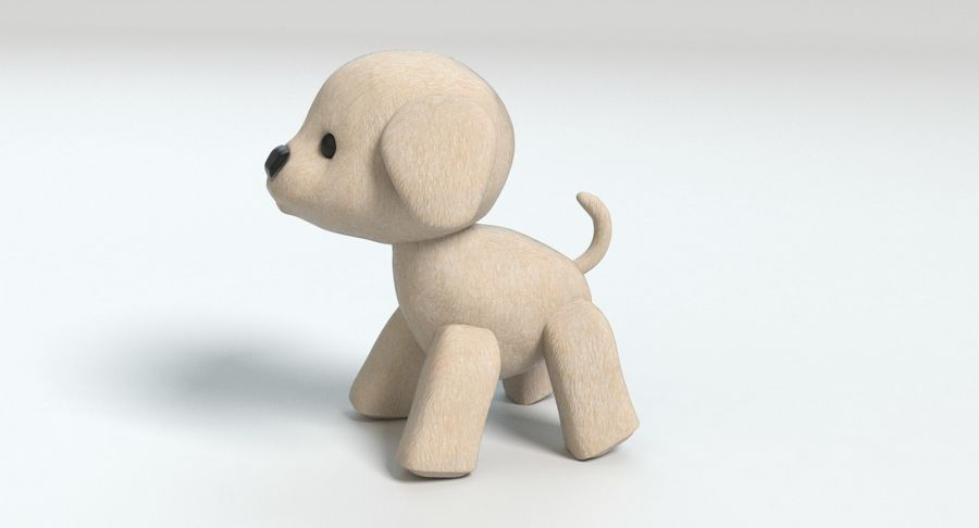 Stuffed Animal Dog royalty-free 3d model - Preview no. 7