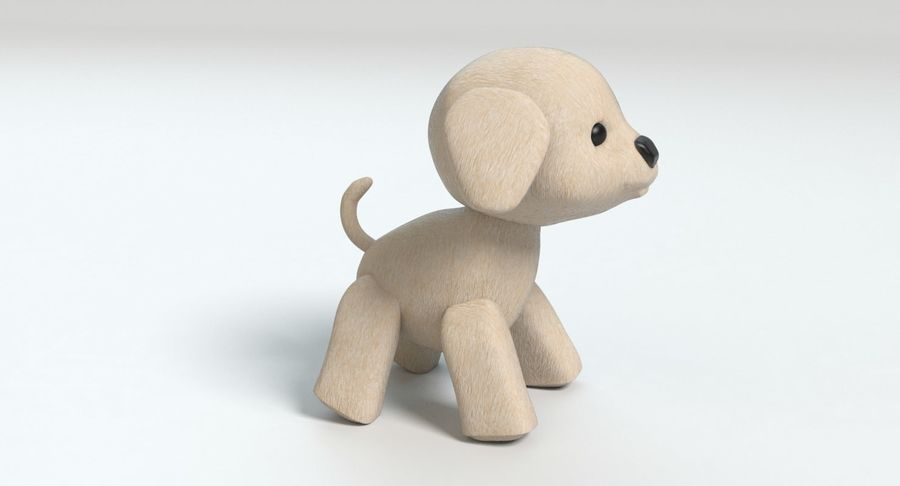 Stuffed Animal Dog royalty-free 3d model - Preview no. 4