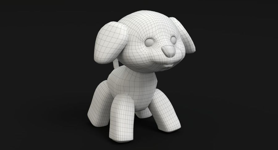 Stuffed Animal Dog royalty-free 3d model - Preview no. 11