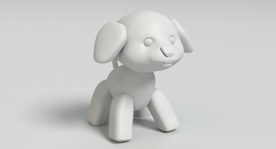 Stuffed Animal Dog royalty-free 3d model - Preview no. 10