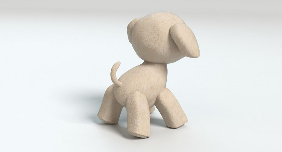 Stuffed Animal Dog royalty-free 3d model - Preview no. 5