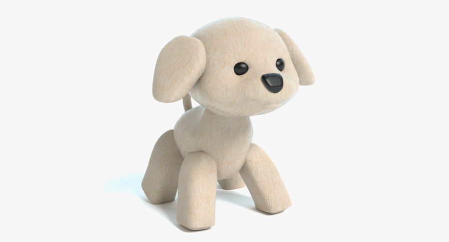 Stuffed Animal Dog royalty-free 3d model - Preview no. 2