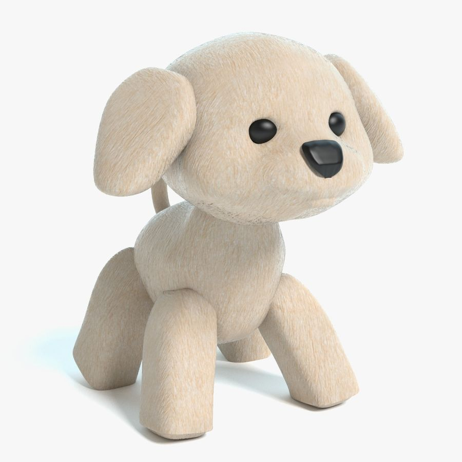 Stuffed Animal Dog royalty-free 3d model - Preview no. 1