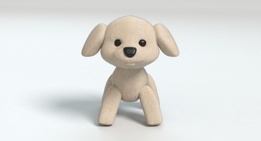 Stuffed Animal Dog royalty-free 3d model - Preview no. 9