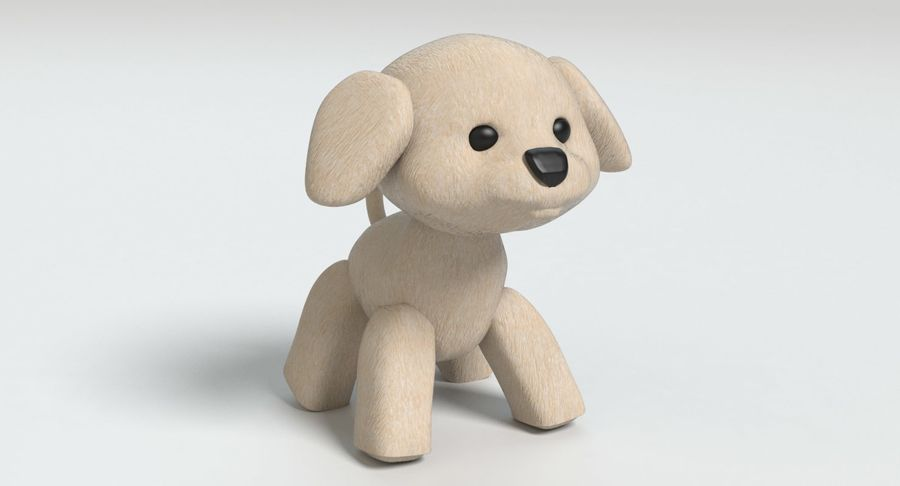 Stuffed Animal Dog royalty-free 3d model - Preview no. 3
