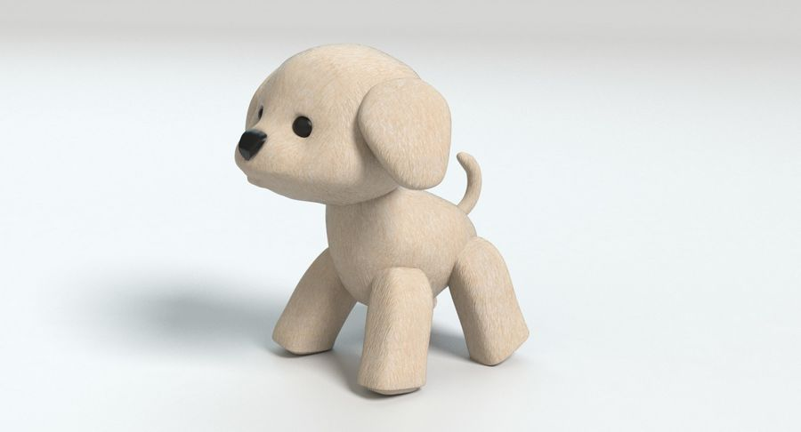 Stuffed Animal Dog royalty-free 3d model - Preview no. 8