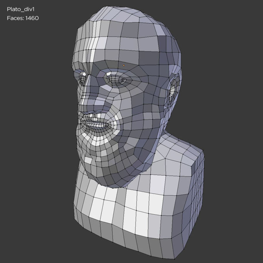 Plato Bust royalty-free 3d model - Preview no. 8