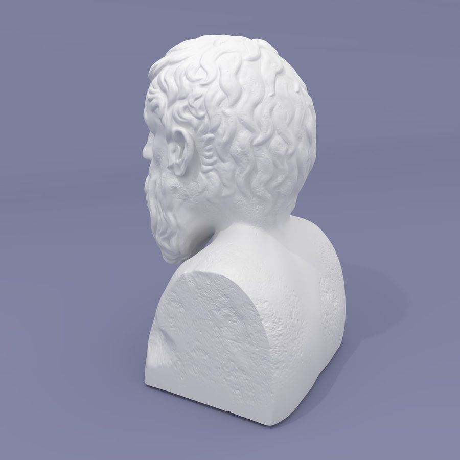 Plato Bust royalty-free 3d model - Preview no. 6