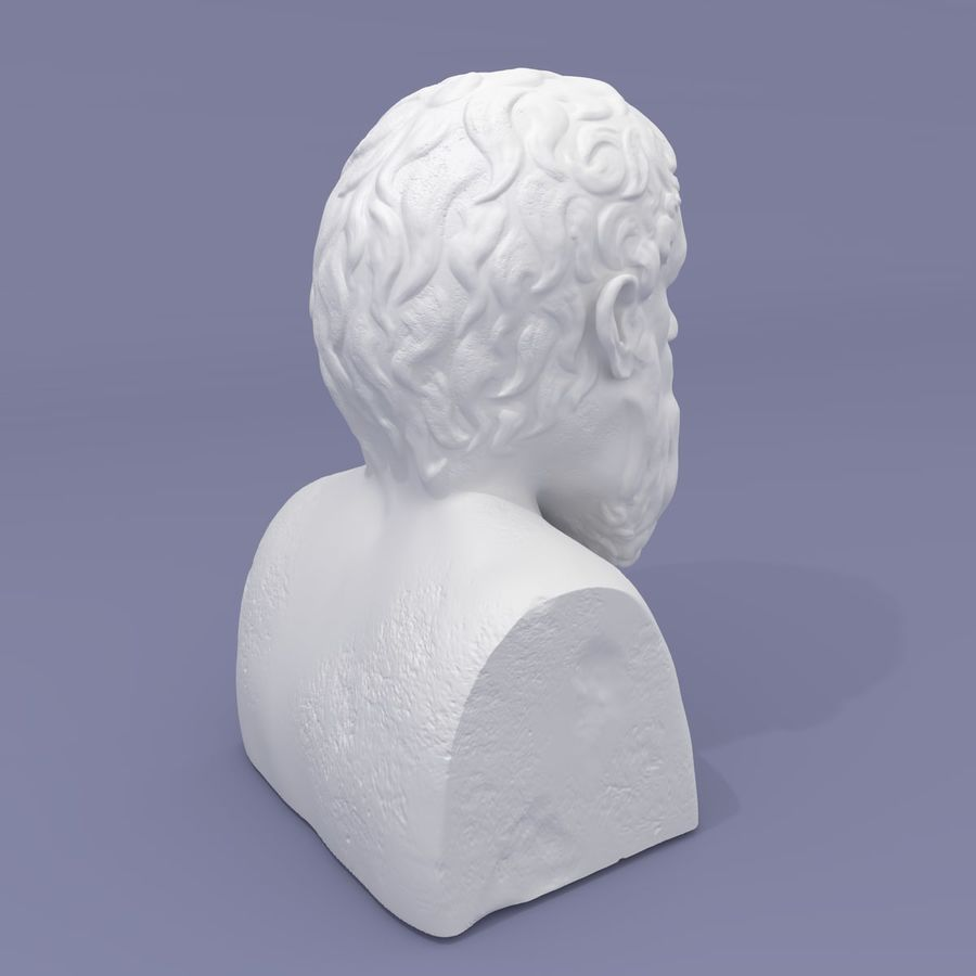 Plato Bust royalty-free 3d model - Preview no. 5