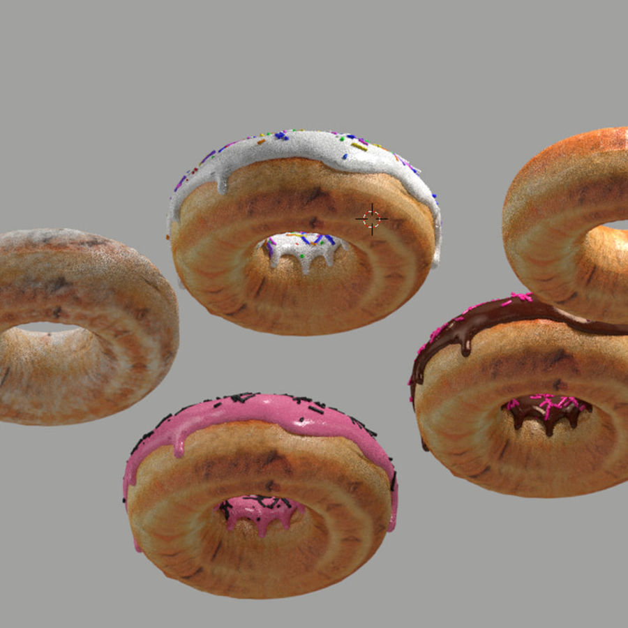 donuts royalty-free 3d model - Preview no. 3