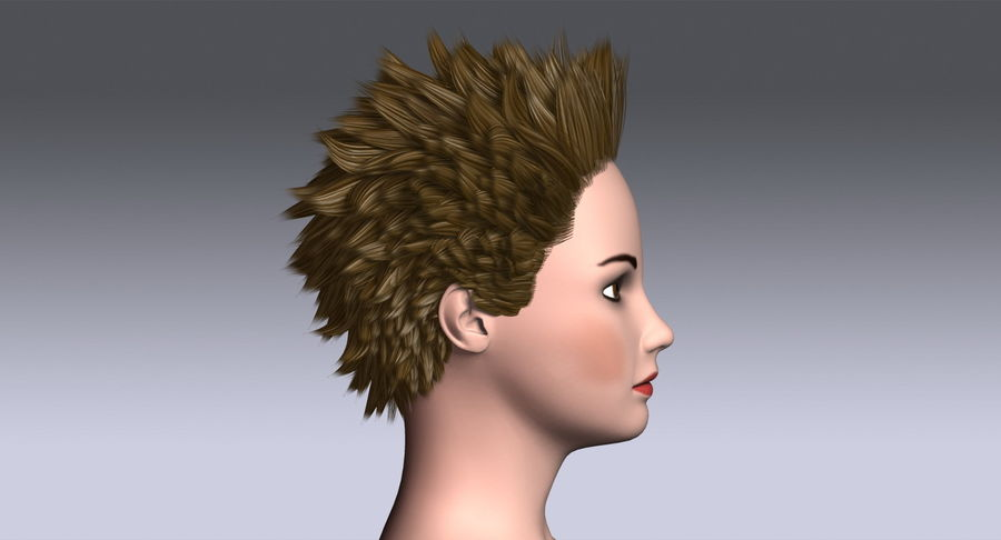 Hairstyle 3 3d Model 19 X Obj 3ds Free3d