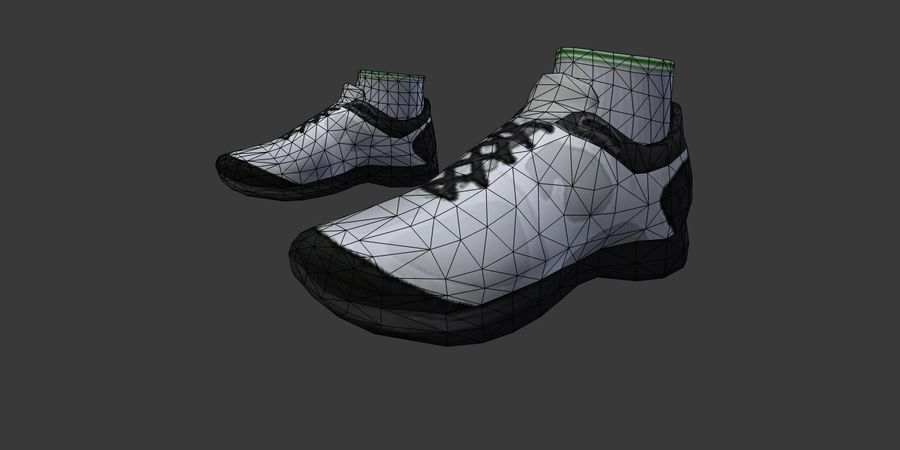 Sports Sneakers 01_i royalty-free 3d model - Preview no. 5