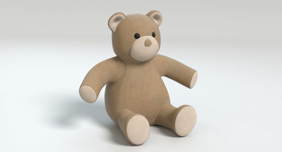 Stuffed Animal Bear royalty-free 3d model - Preview no. 4