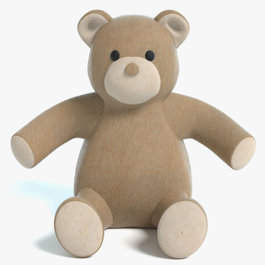 Stuffed Animal Bear royalty-free 3d model - Preview no. 1